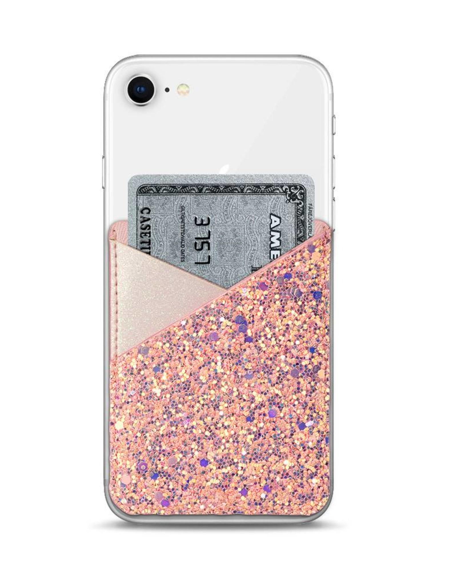 Casetify /// Casetify | Genuine Leather Pocket Pearl Pink Glitter | 115-1792