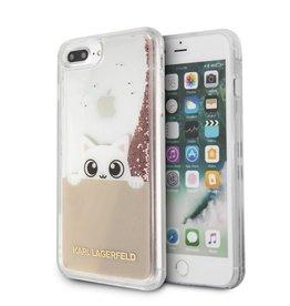 /// Karl Lagerfeld   iPhone 8/7/6/6s+ Peek A Boo Liquid Glitter Pink-Gold Case   KLHCP7LPABGNU