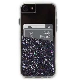 Case-Mate Case-mate | Black Glitter Phone Card-holder Pocket | 15-02265