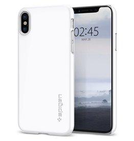 Spigen Spigen   iPhone X/Xs Thin Fit Case Jet White   SGP057CS22112