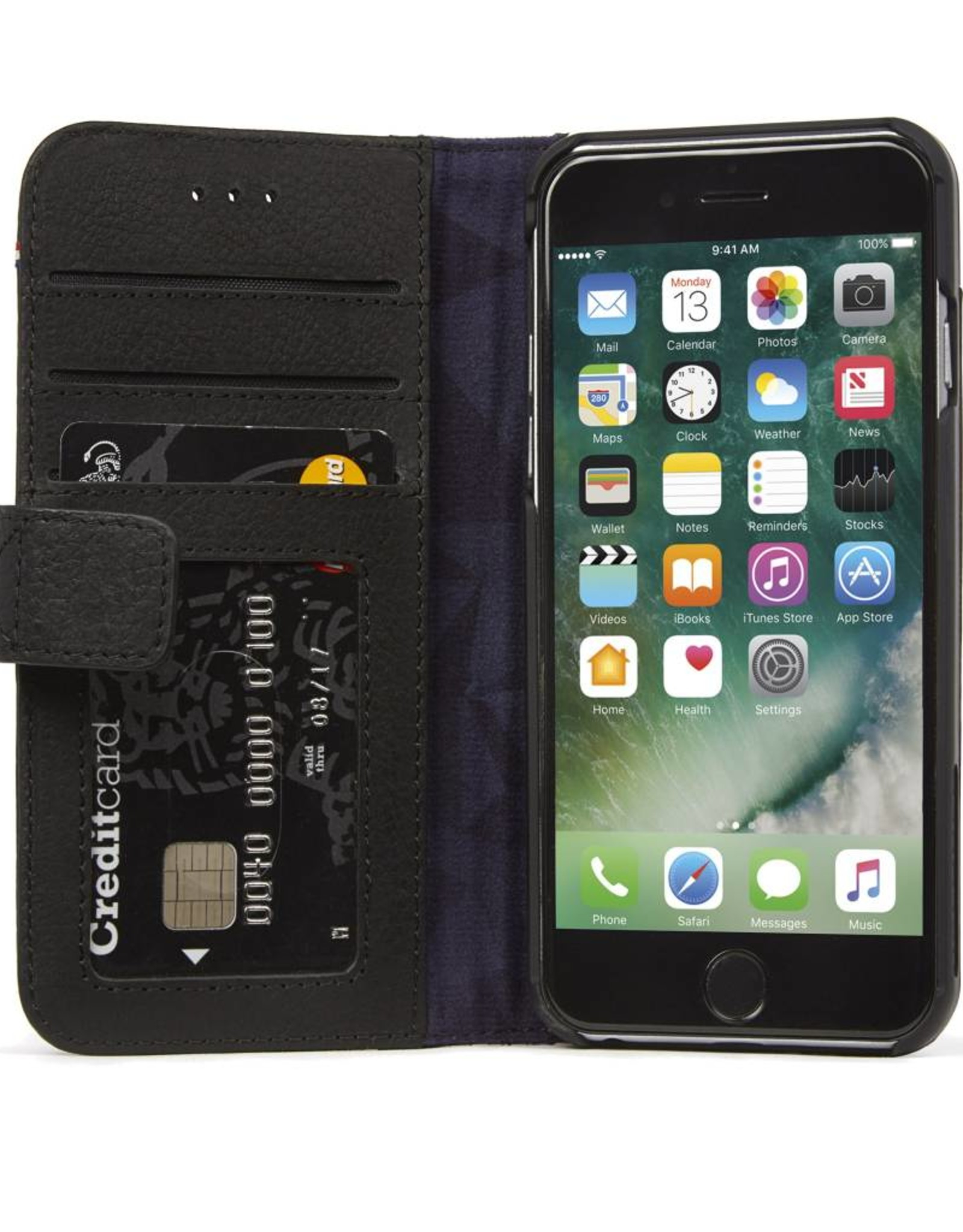 Decoded | iPhone Xs MAX Leather Wallet Removable Back Cover | Black DC-D8IPO65DW1BK