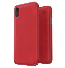 Speck Speck | iPhone Xs Max Presidio Folio - Heathered Red/Grey | 1171097359
