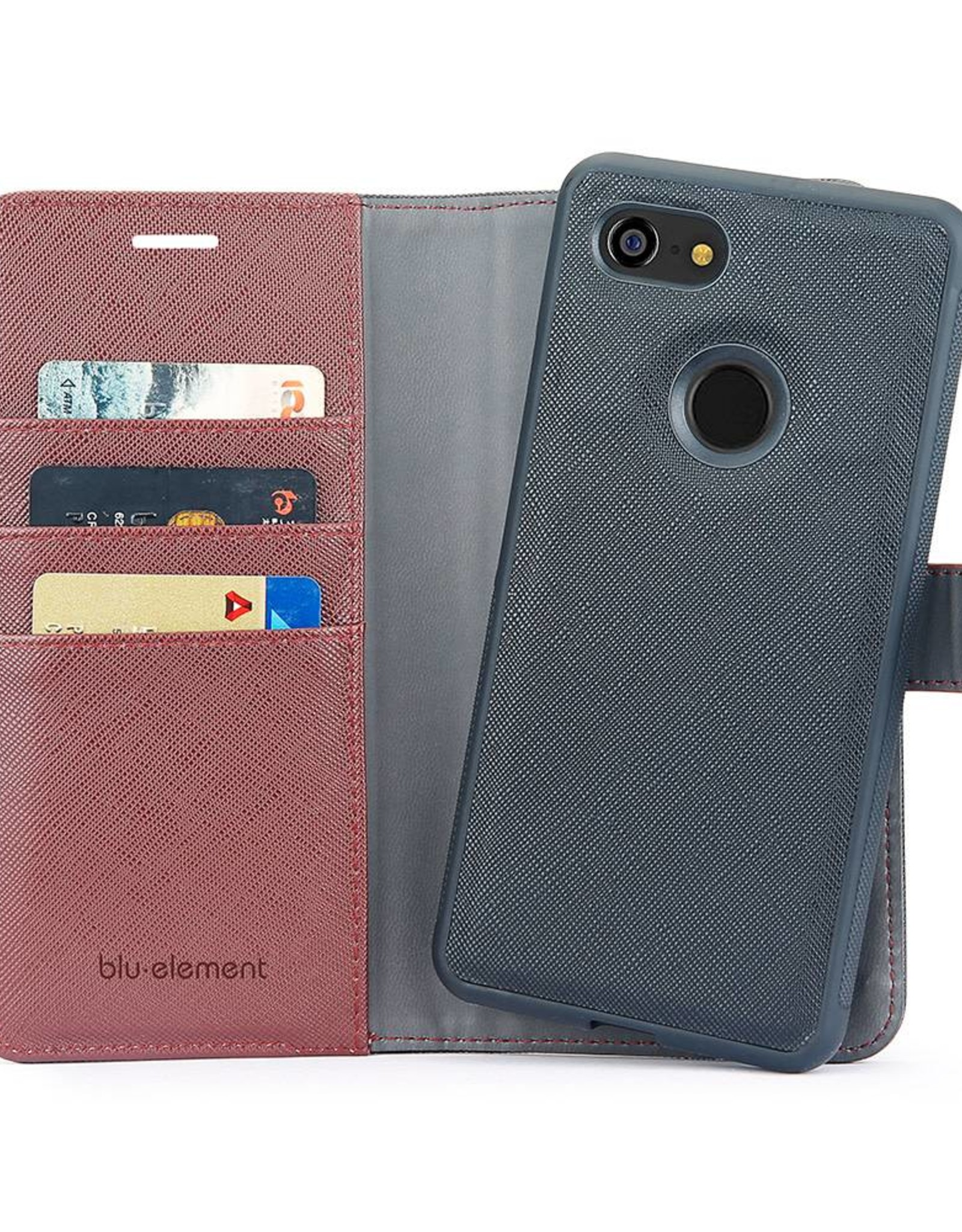 Blu Element Blu Element | Google Pixel 3 2 in 1 Folio Case Black/Brown | 120-1155