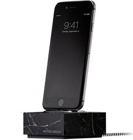 Native Union /// Native Union | iPhone/Lightning Connector Dock Black Marble | DOCK+-IP-MB-BLK