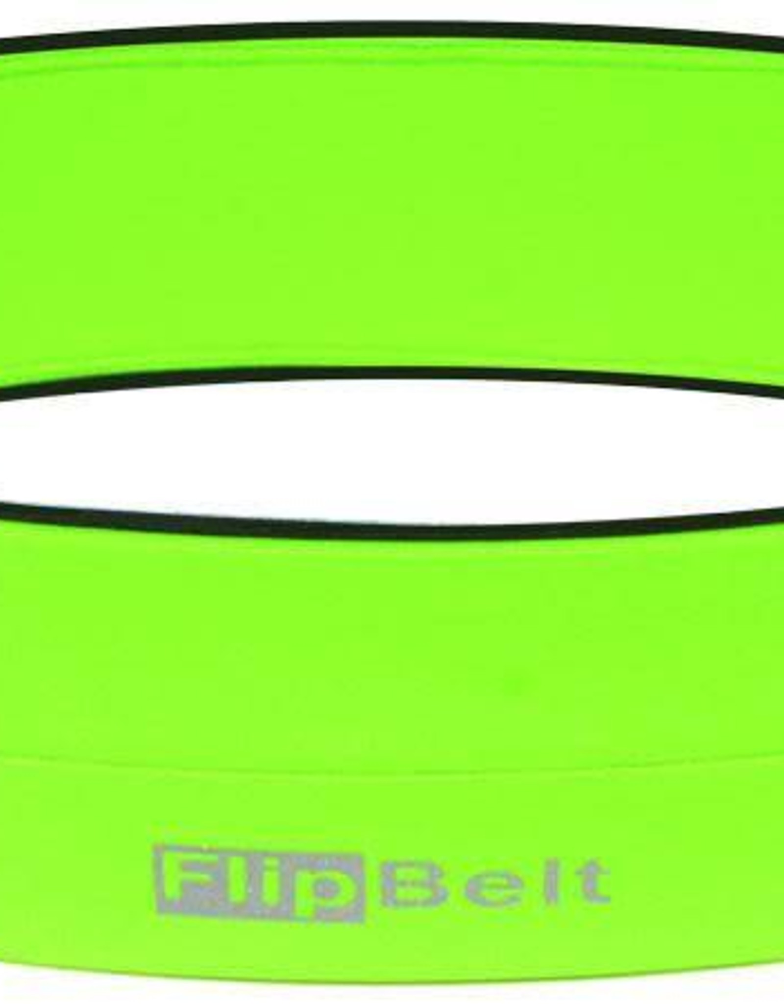 """FlipBelt   Classic Running Belt Neon Green Small 26""""-29""""  """