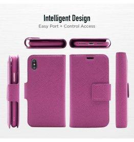 Caseco Sunset Blvd | iPhone 8/7/6/6s+ 2-in-1 RFID Blocking Folio Case Purple | C3581-11