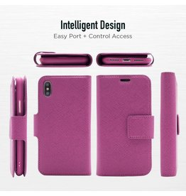 Caseco Sunset Blvd | iPhone X/Xs 2-in-1 RFID Blocking Folio Case Purple | C3510-11