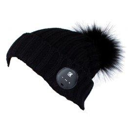 Caseco Caseco | Blu-Toque Lush Series- Noir Bluebooth Beanie- Black Fur Pom | C51BT01