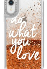 Casetify /// Casetify | iPhone XR Glitter Case Do What You Love (Gold) | 120-1046