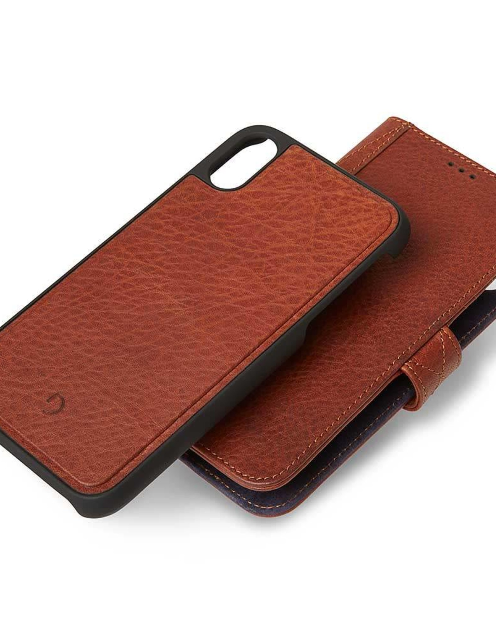 Decoded | iPhone XR Leather Case Detachable Wallet Cinnamon Brown | DC-D8IPO61DW1CBN