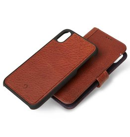 Decoded Decoded | iPhone XR Leather Case Detachable Wallet Cinnamon Brown | DC-D8IPO61DW1CBN