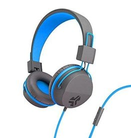 JLab Audio - Neon On-Ear Headphones Blue/Grey 106-1350
