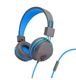 JLab Audio JLab | Audio - Neon On-Ear Headphones Blue/Gray | 106-1336