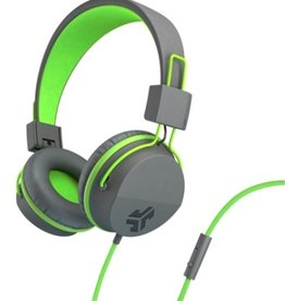 JLab Audio | Neon On-Ear Headphones Green/Gray | 106-1337