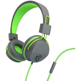 JLab Audio JLab | Audio - Neon On-Ear Headphones Green/Gray | 106-1337