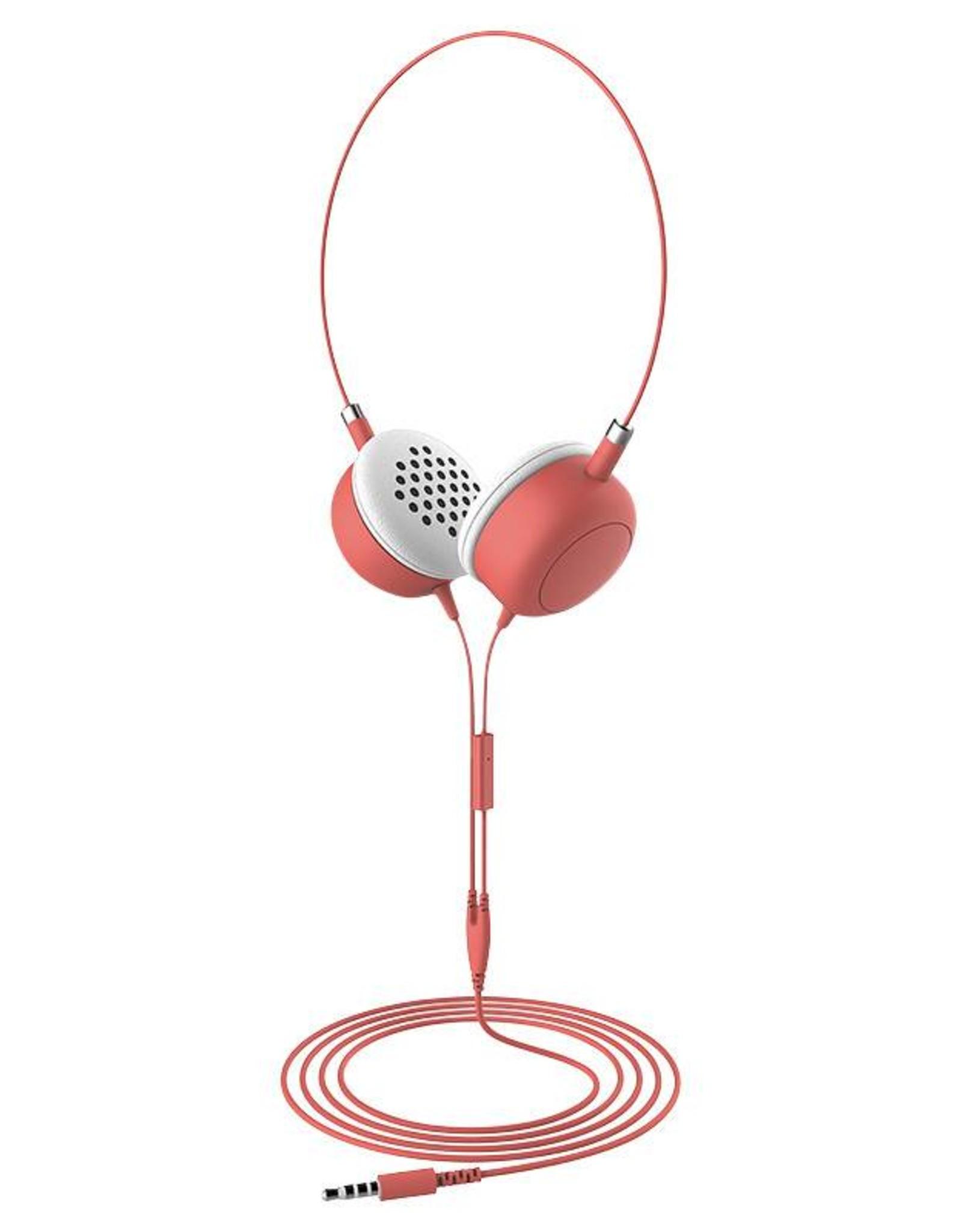 Furo | Macaron headphone Wired on ear - Coral | FT-12726