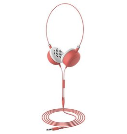 Furo Furo | Macaron headphone Wired on ear - Coral | FT-12726