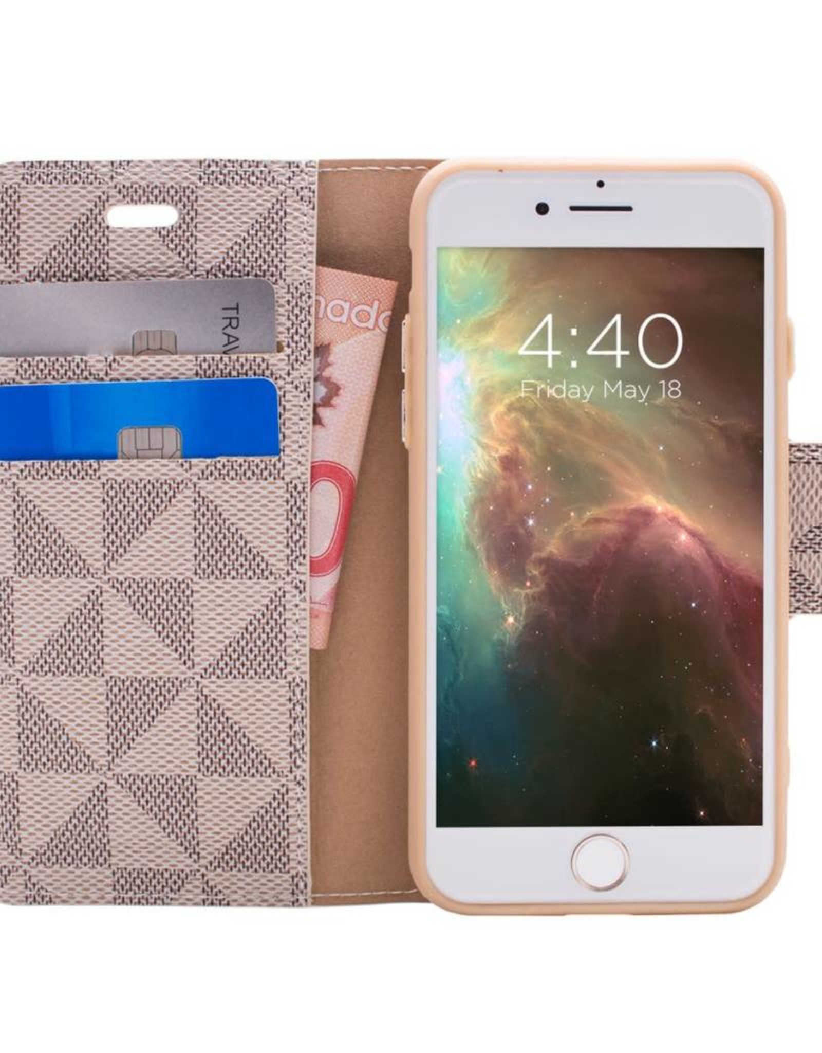 Caseco Caseco Park Ave | iPhone 8/7/6/6s+ Detachable RFID Protection Folio Case Gold | CC-PA-iP8P-GD