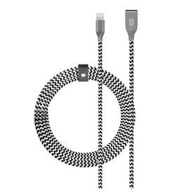 Logiix LOGiiX   Piston Connect Braid 1.2m USB-A to Lightning - White/Black   LGX-12679