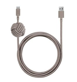 Native Union Native Union | Night Cable USB-C - Taupe | NCABLE-KV-AC-TAU
