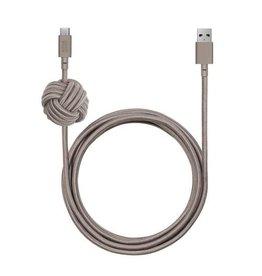 Native Union Native Union | Night Cable USB-C Taupe | NCABLE-KV-AC-TAU