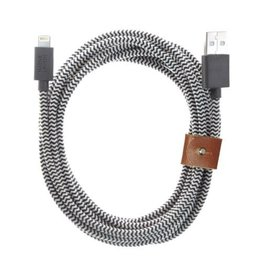 Native Union Native Union   Belt Cable XL 10FT Zebra Lightning   BELT-KV-L-ZEB-3
