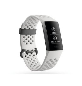Fitbit Fitbit Charge 3 SE, Graphite Aluminum Case with White Band FB410GMWTCALA