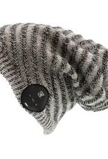 Caseco Caseco | Blu-Toque V2 Dual Layered Slouchy Bluetooth Beanie - Ribbed Grey | CC-NBTQ-SGY