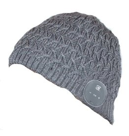 Caseco Caseco | Blu-Toque Cable Knit Bluetooth Beanie - Lacy Cable Grey | C52BT02