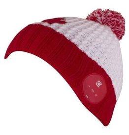 Caseco Caseco | Blu-Toque V2 Canada Maple Leaf Bluetooth Beanie - Red & White | CC-NBTQ-CNP
