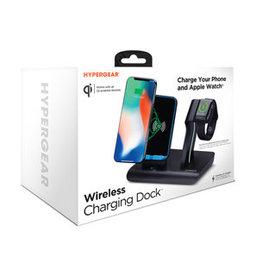 /// HyperGear | 5W 2-in-1 Wireless Charging Dock for Phone + Watch w/ QI 15-04330