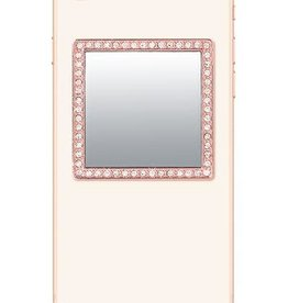/// iDecoz | Rose Gold Square with Crystals Mirror | SQ222M