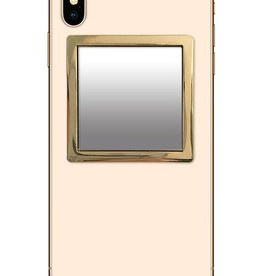 /// iDecoz | Gold Square Phone Mirror | SQ279M