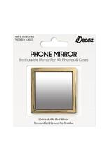 /// iDecoz | Gold Square Phone Mirror | SQ279M