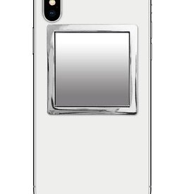 /// iDecoz | Silver Square Phone Mirror | SQ280M