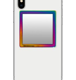 /// iDecoz | Iridescent Square Phone Mirror | SQ524M