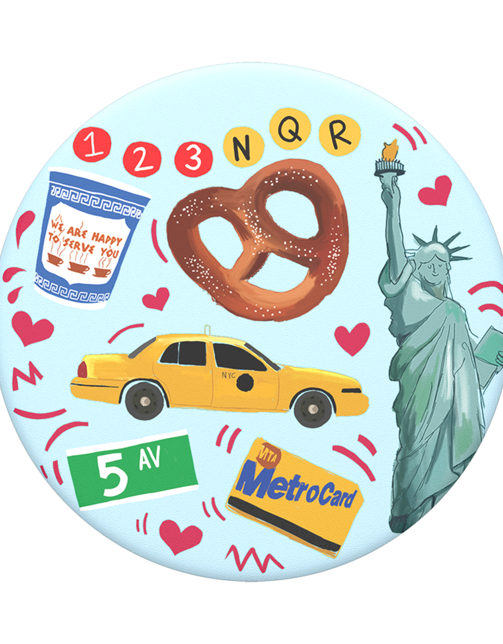Popsockets PopSockets | PopGrip (Complete Swappable PopGrip) New York | 115-1888