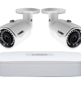 Lorex 2K IP Security Camera System With Channel NVR and 2 HD Outdoor 4MP Cameras LNR84