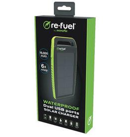 Refuel 15,000 MAH Waterproof Dual USB Ports Solar Charger RF-PBSLR15