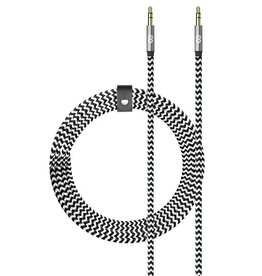 Logiix LOGiiX | Piston Connect Braid + 1.5m Aux to Aux - White/Black | LGX-12681