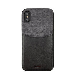 Uunique | iPhone X/Xs London Black/Grey Westminster Flip Pocket Case | 15-04342