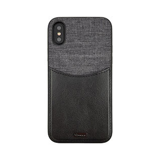 Uunique London Uunique | iPhone X/Xs London Black/Grey Westminster Flip Pocket Case | 15-04342