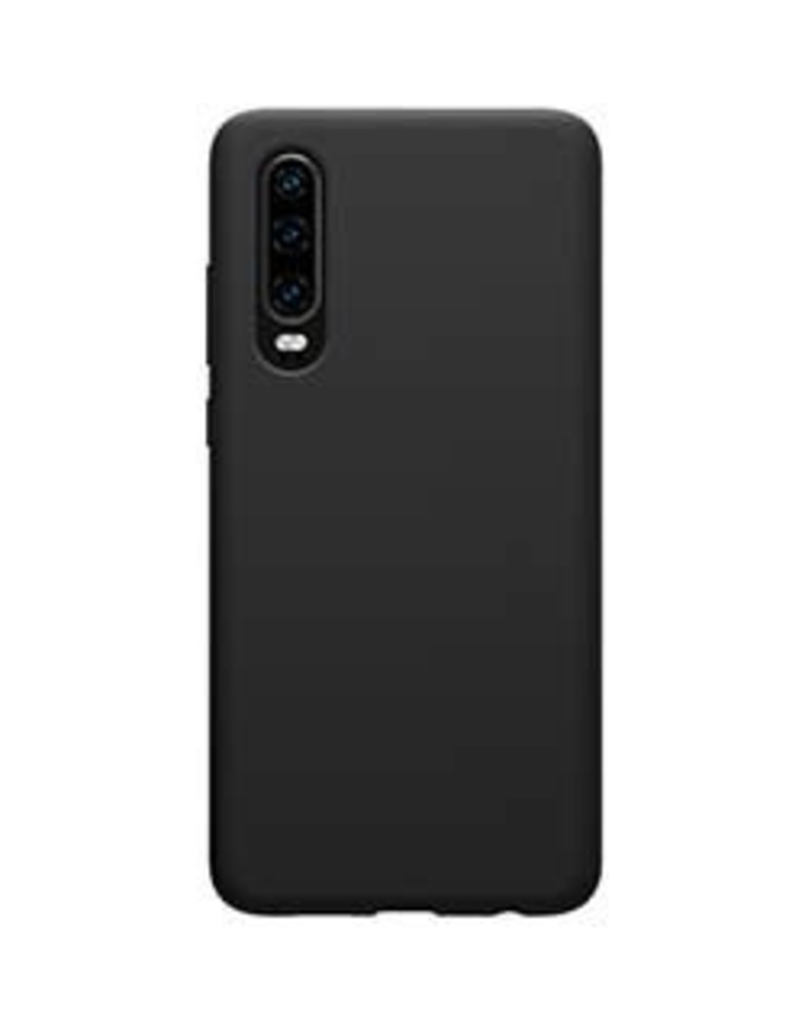 Uunique | Huawei P30 Black Liquid Silicone Case | 15-04665