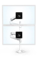Ergotron LX Dual Stacking Arm, Tall Pole, Bright White, Gray Accents 45-509-216