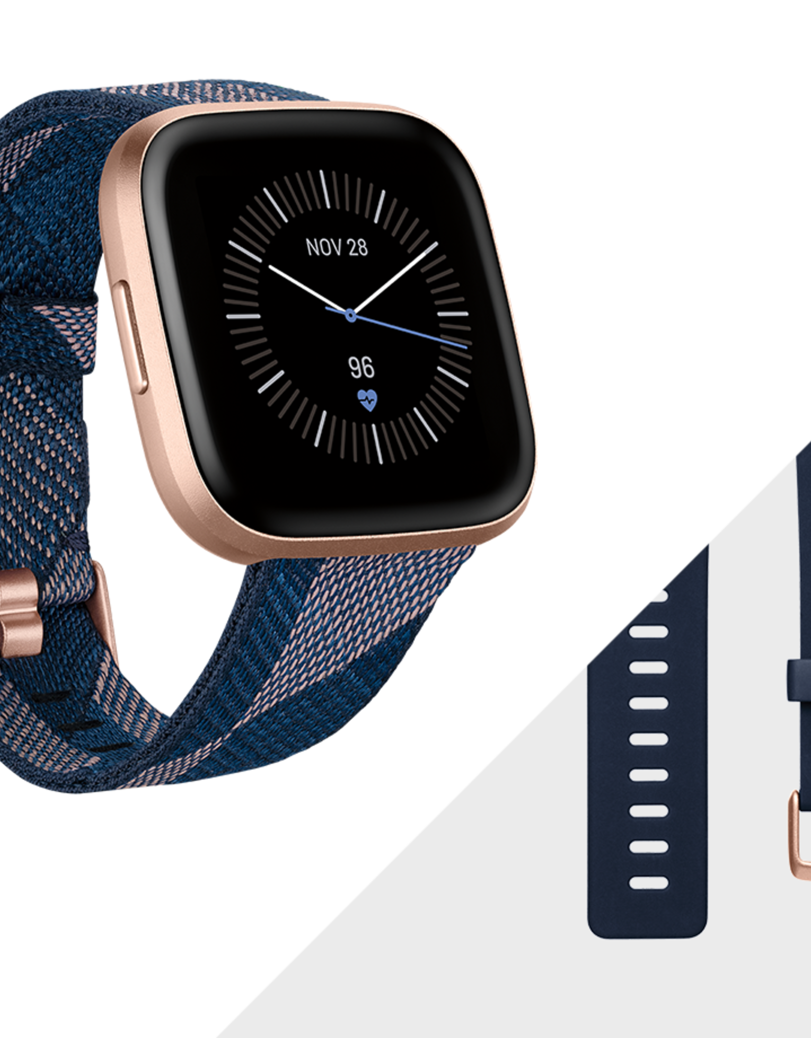 Fitbit Fitbit | Versa 2 SE Copper Rose with Navy and Pink Woven Band FB507RGNVFRCJK