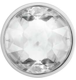 Popsockets PopSockets | PopGrip (complete swappable PopGrip) Disco Crystal Silver 123-0018