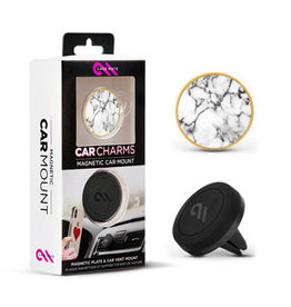 Case-Mate SO Case-Mate White Marble Circle Charm Magnetic Car Mount  15-04193