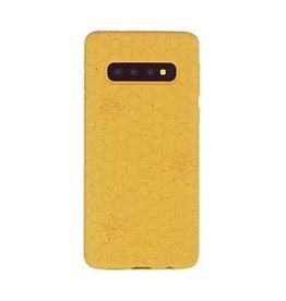 Pela Samsung Galaxy S10 Pela Yellow Honey Bee Edition Compostable Eco-Friendly Protective Case