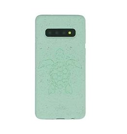 Pela Samsung Galaxy S10 Pela Turquoise Turtle Edition Compostable Eco-Friendly Protective Case