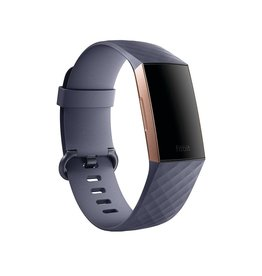 Fitbit Fitbit | Charge 3 Rose Gold Aluminum Case w/ Blue Gray Band FB409RGGYCALA